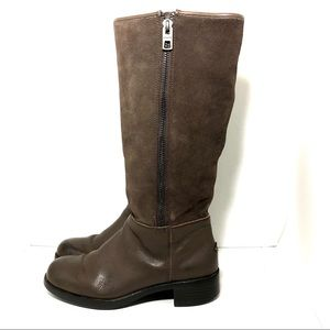 Coach Bailey Brown Suede & Leather Boots Sz 7B